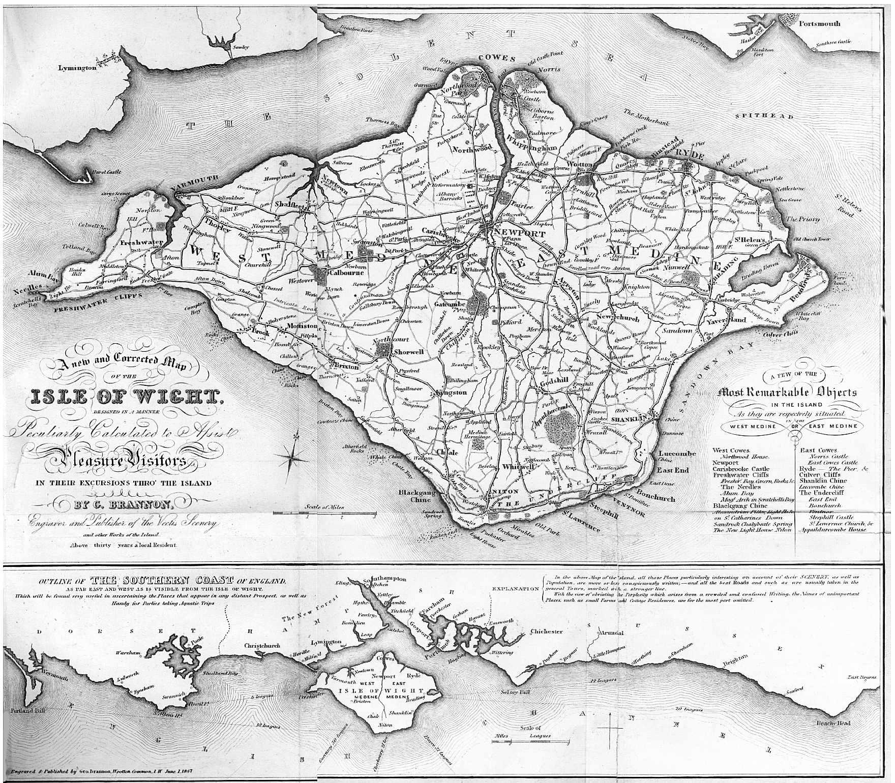 History Brannon IOW Maps - Map of iow